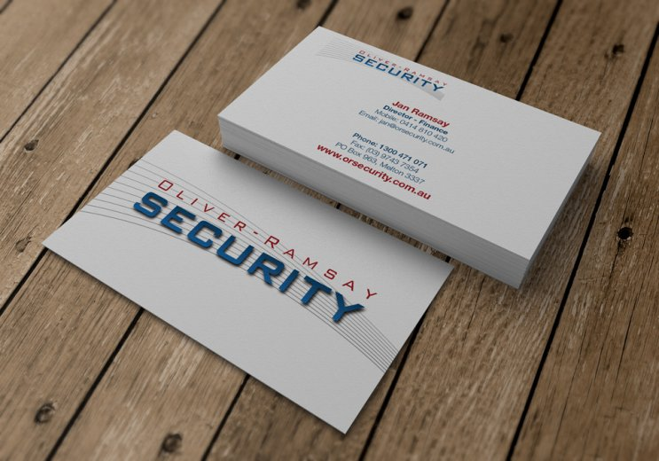 Oliver-Ramsay Security logo and business card