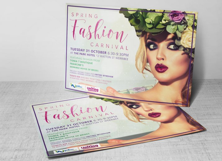 Wyndham Business and Tourism Association Spring Fashion 2017 flyer