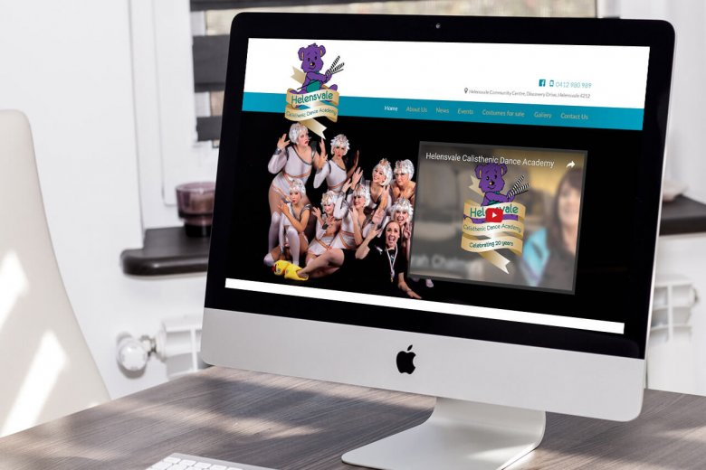 Helensvale Calisthenic Dance Academy custom WooCommerce website design and development
