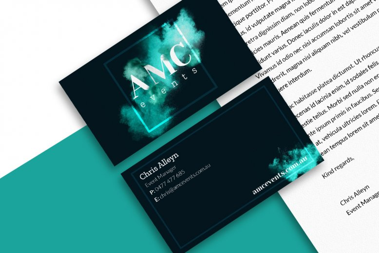 AMC Events business card design