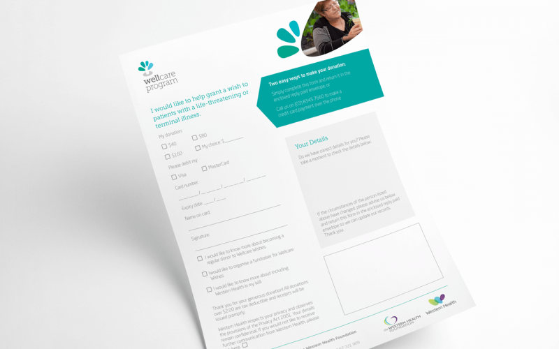 Wellcare Wishes Appeal - direct mail campaign graphic design