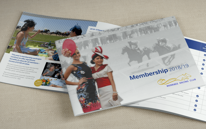 Werribee Racing Club membership brochure design